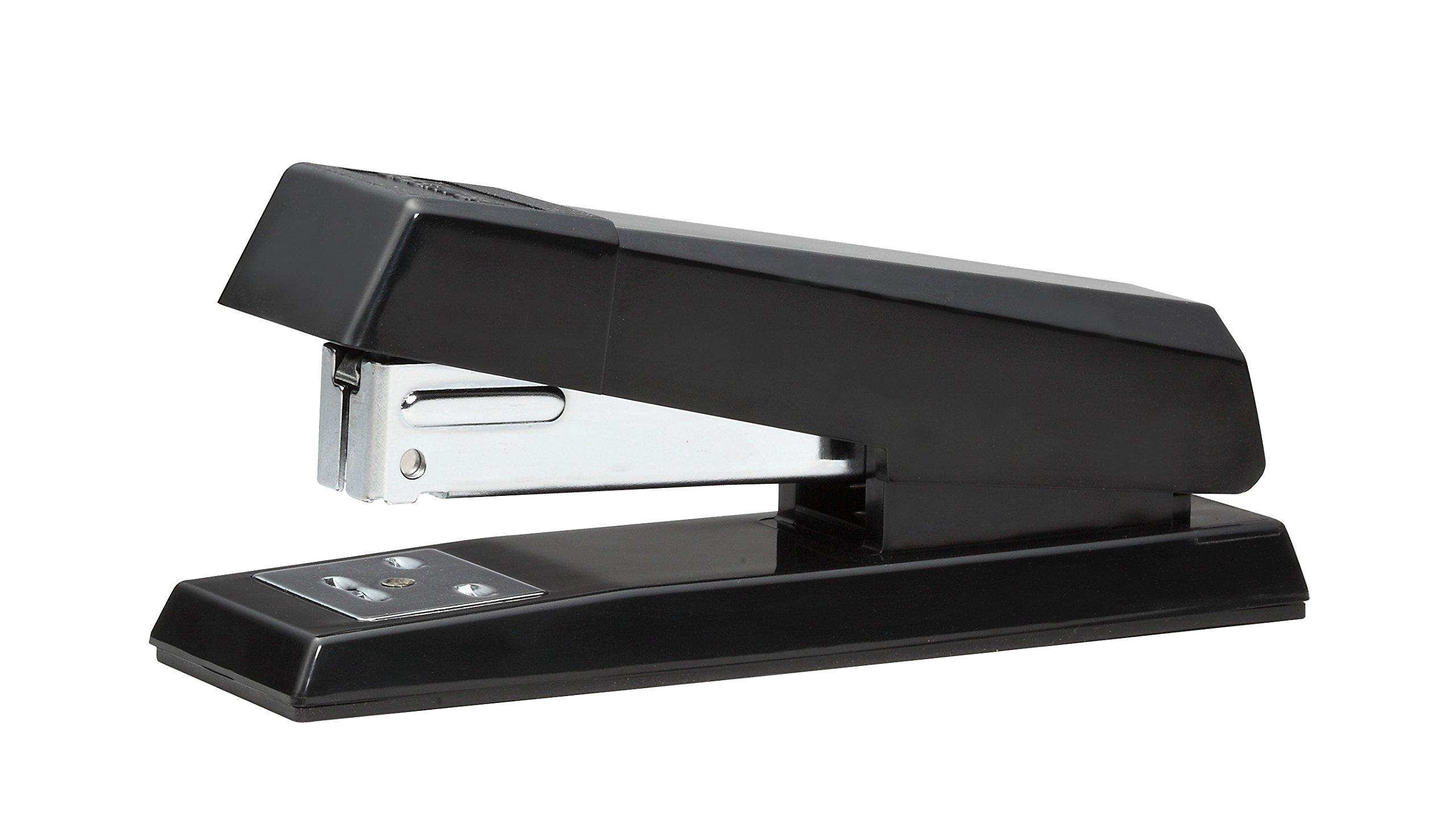 Bostitch No-Jam Premium Half-Strip Desktop Stapler, 20 Sheets, Black