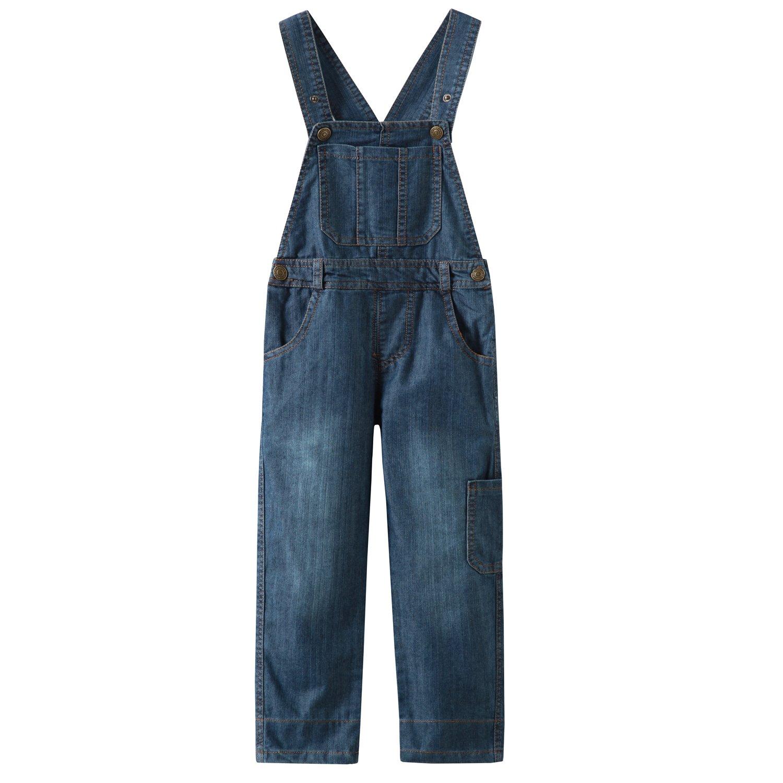 Grandwish Boys Blue Thin Denim Bib Overalls 3T-10 CC086