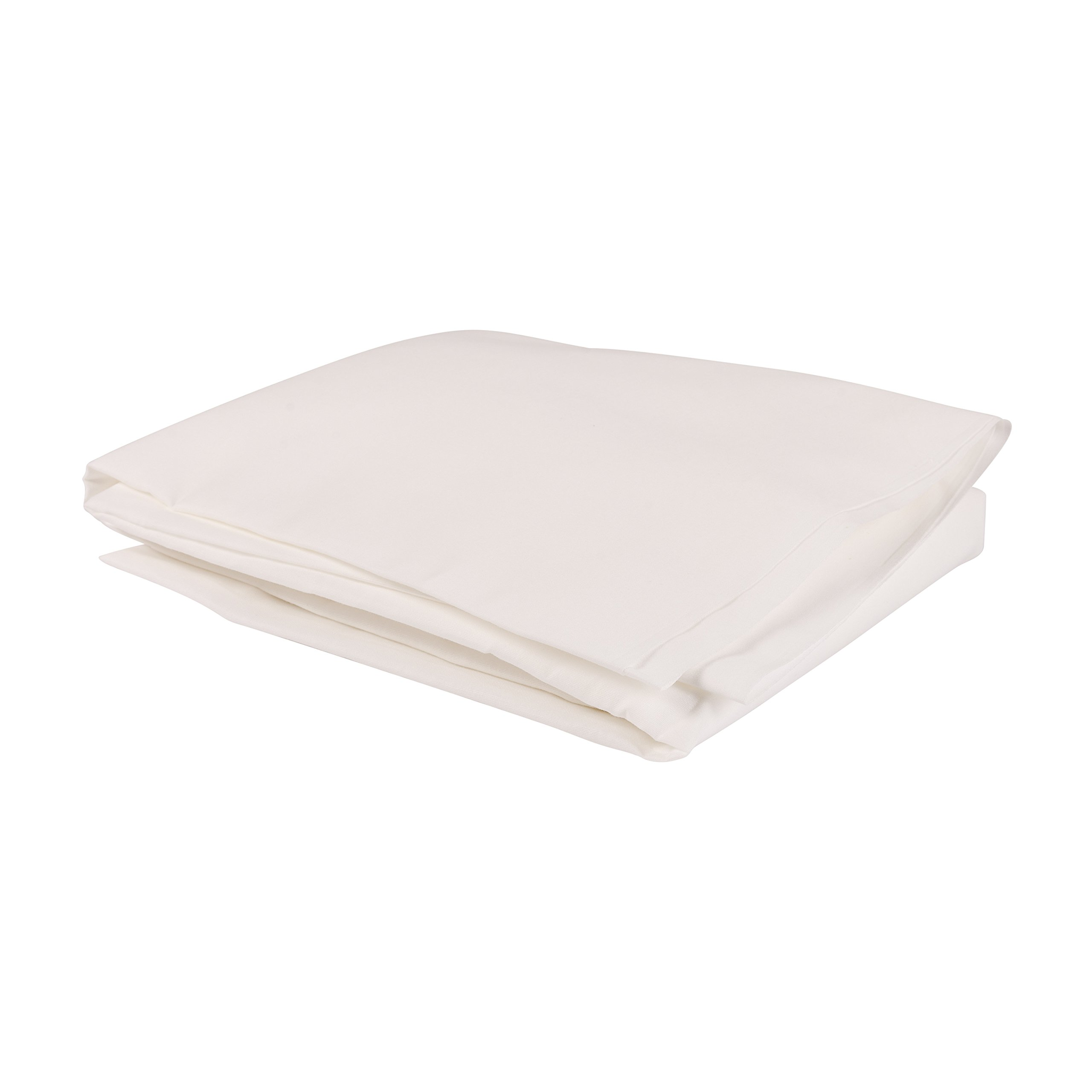 DMI Fitted Hospital Bed Bottom Sheets, Standard Size, White, 12-Count