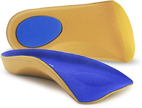 3//4 ORTHOTIC INSOLE ARCH SUPPORT FLAT FEET HEEL CUP PRONATION FALLEN ARCHES