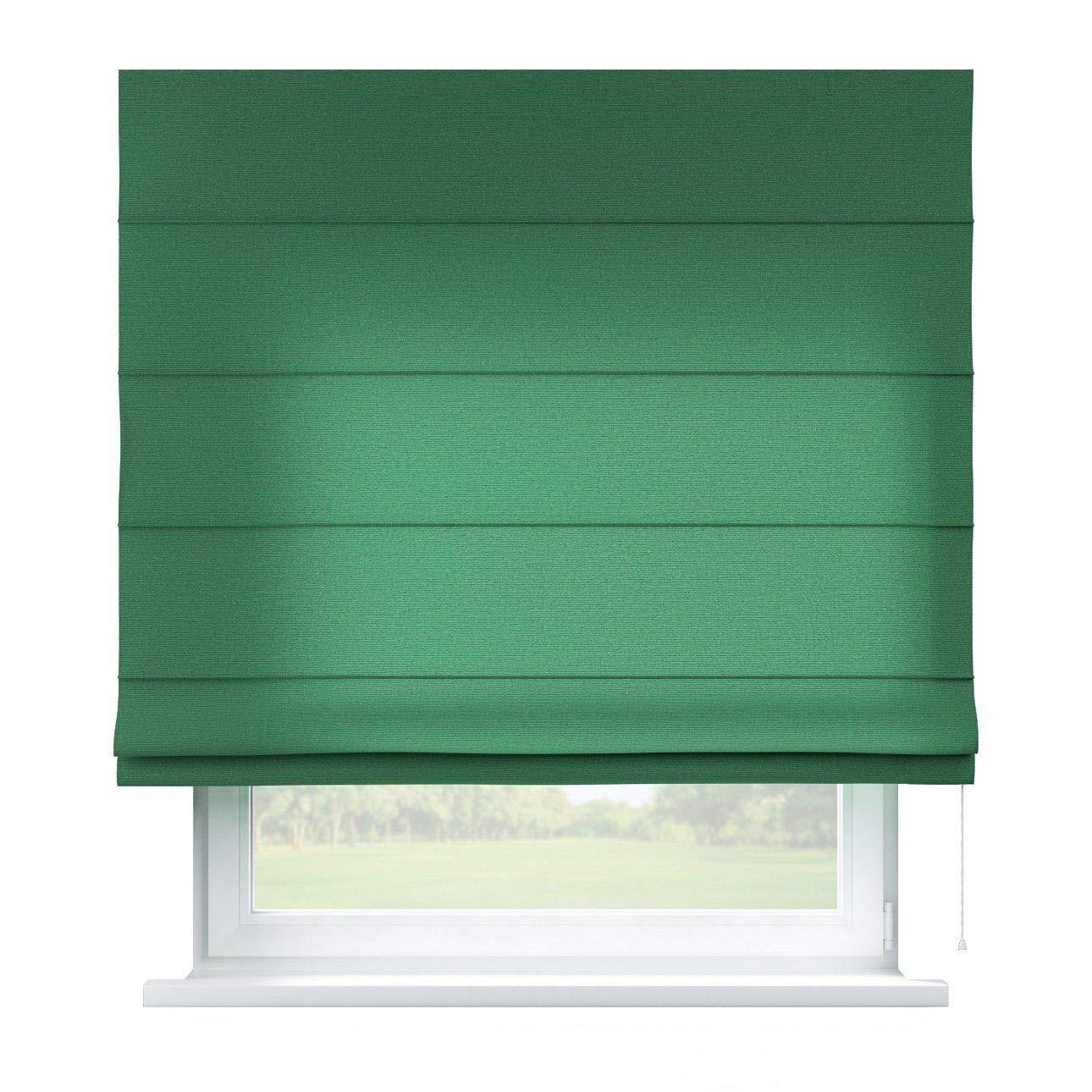 Dekoria Raffrollo Capri ohne Bohren Blickdicht Faltvorhang Raffgardine Wohnzimmer Schlafzimmer Kinderzimmer 130 × 170 cm grün Raffrollos auf Maß maßanfertigung möglich