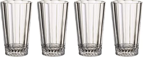Amazon Com Villeroy Boch Opera Tall Glass Set Of 4 5 5 In 11 5 Oz Crystal Glass Clear Champagne Glasses