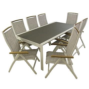 Conjunto Mesa jardín Extensible 200/300 y 8 sillones ...