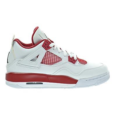 f22dc133f4e9e9 Jordan Air 4 Retro BG Big Kid s Shoes White Black Gym Red 408452-