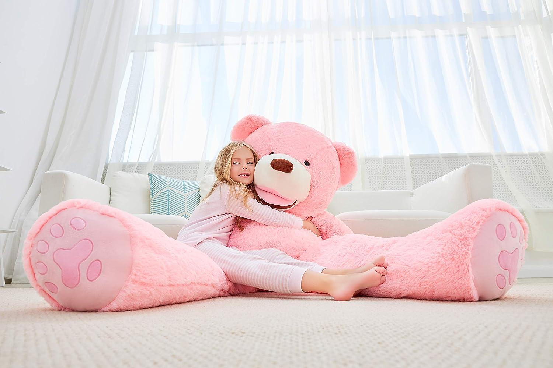 Pink, 63 inches IKASA Giant Teddy Bear Plush Toy Stuffed Animals 5.25 Foot