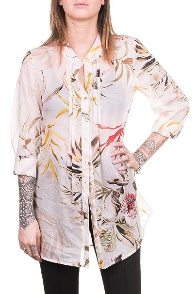 Blusa con Manga Larga en Muselina de algodón imprimida (M)