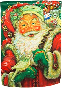 Merry Father Christmas Garden Banner (12-1/2 in. x 18 in.)