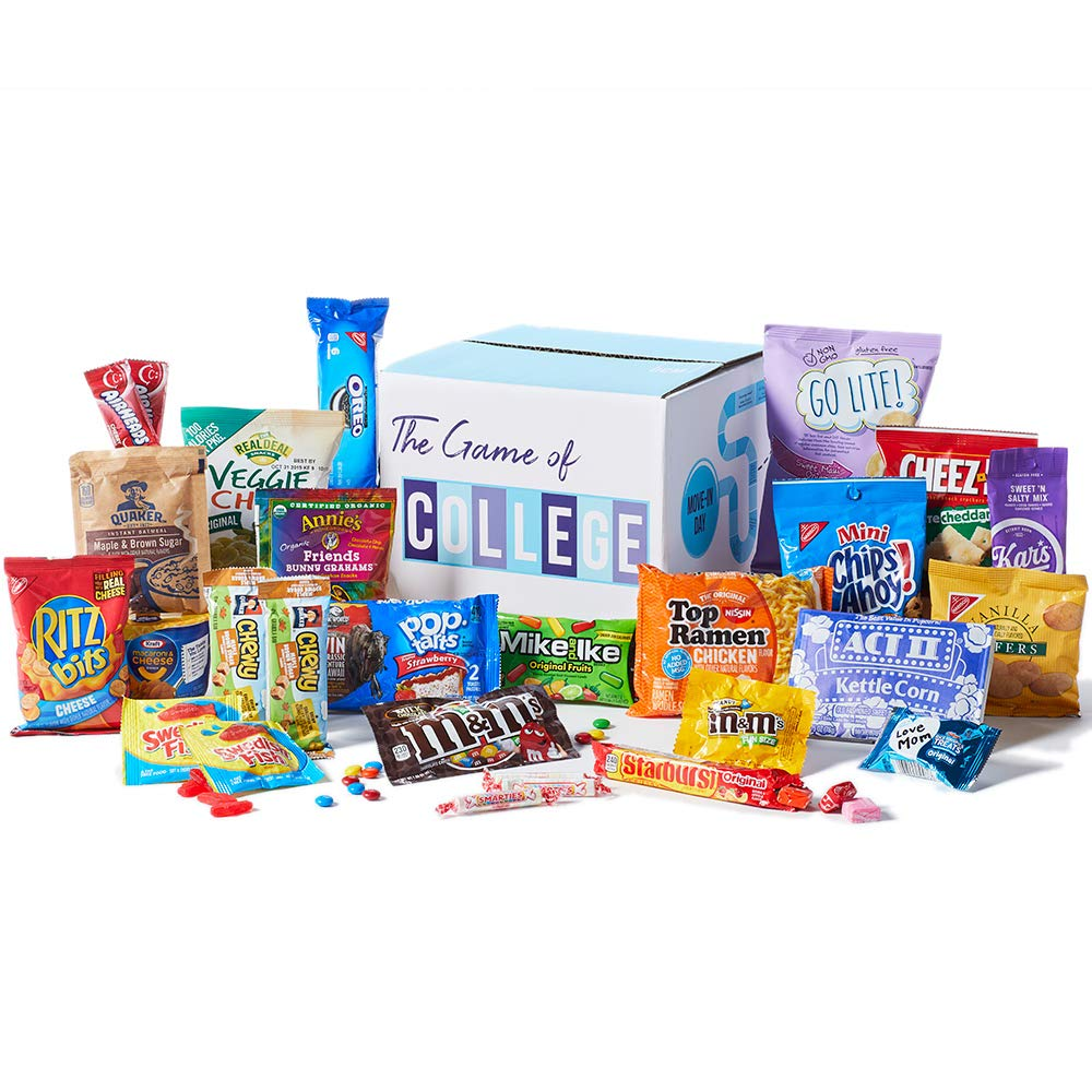 CDM product Welcome to College Care Package, A Variety Bundle Assortment Gift Box of Savory and Sweet Snack Treats for University College Students Returning to Campus or School big image