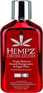 product image for Hempz Triple Moisture Frosted Herbal Whipped Body Creme, Pomegranate & Sugar Plum, 2.25 Ounce