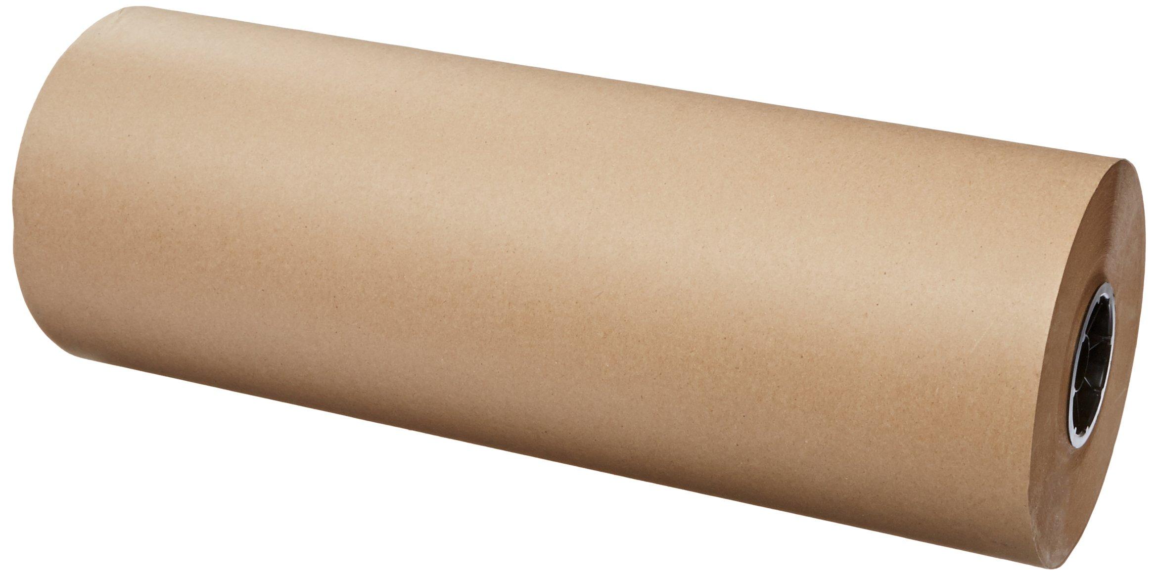 Pratt Multipurpose Kraft Paper Sheet for Packaging Wrap, KPR4024900R,  900' Length x 24'' Width, Kraft