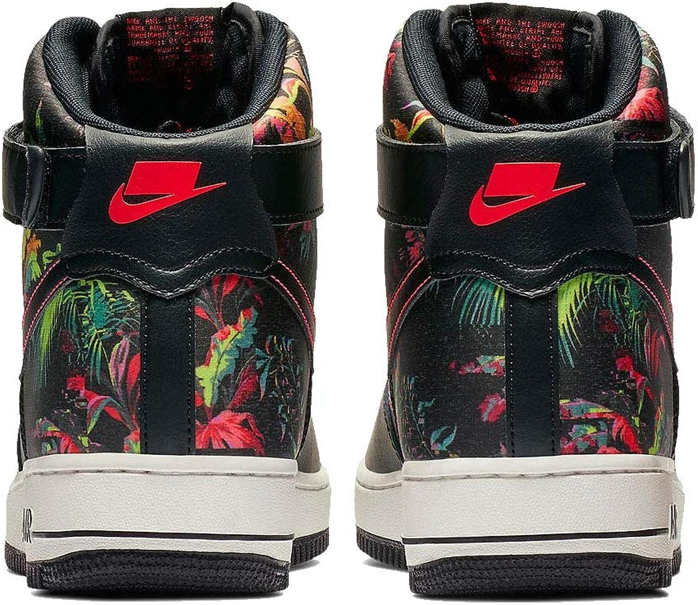 Nike Air Force 1 Hautes '07 Lv8 Motif Floral NoirRouge