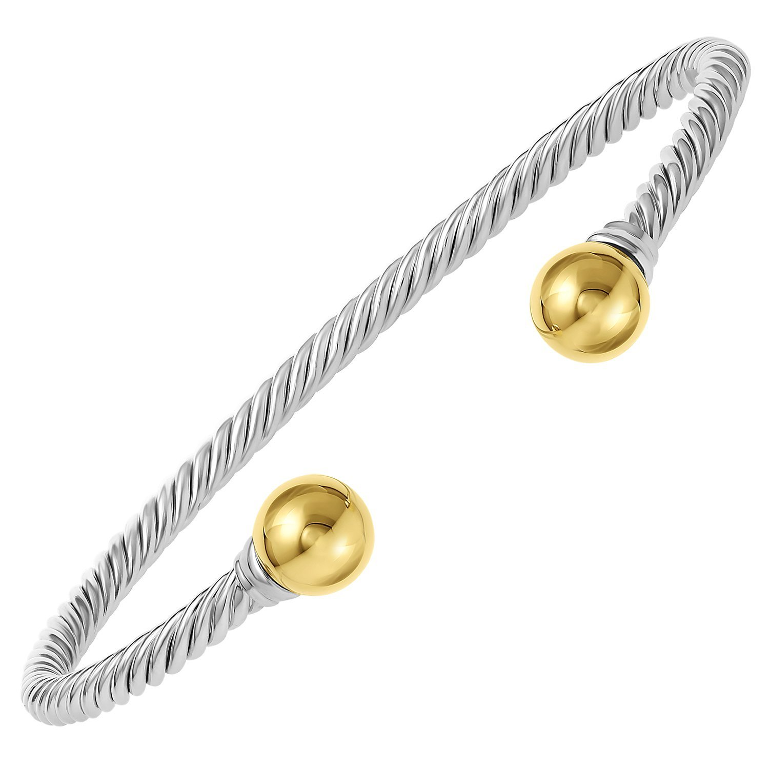 cape index cod bangle bracelets double bracelet silver bangles solid ball and gold jewelry sterling