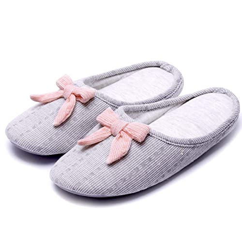 c21d8de88 Caramella Bubble Knitted Slippers with Bow | Cute Cozy Women Slippers |  Lightweight Comfort House Slippers | Slip On Indoor Shoes | Memory Foam  Anti-Slip ...