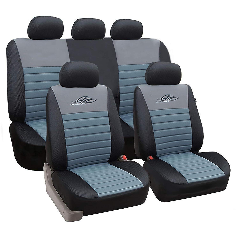 eSituro universal Sitzbez/üge f/ür Auto Schonbezug Schoner Komplettset schwarz//rot SCSC0116