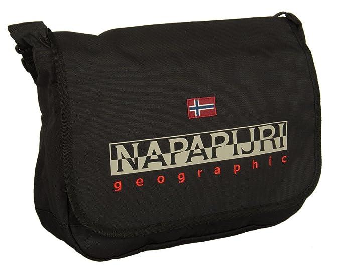 Napapijri borsa con tracolla messenger black  Amazon.it  Abbigliamento 74e8cad80cd