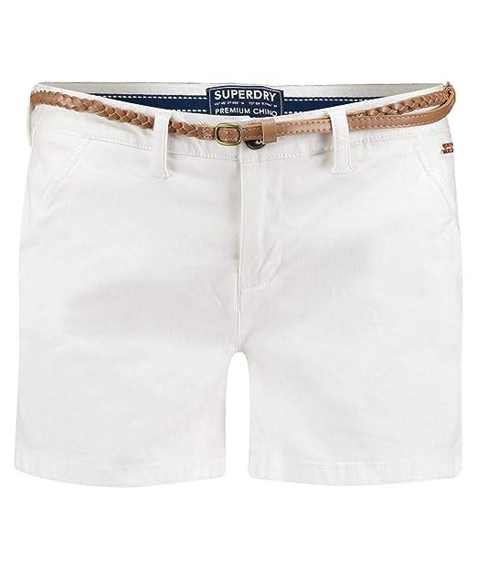 fee1768bc Superdry Short Chino Blanco para Mujer  Amazon.es  Ropa y accesorios