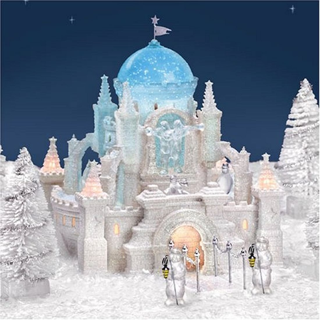 Crystal Ice Palace, Discover Department 56 25th Anniversary Special Edition Gift Set, 9 Piece Set, 58922, D56, Snow Village, Limited Edition, Heritage Village, Retired Collectible
