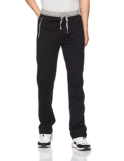 4cbf39f33c4e Jockey Men s Cotton Track Pants (8901326134313 9510 Small Black and Grey  Melange)