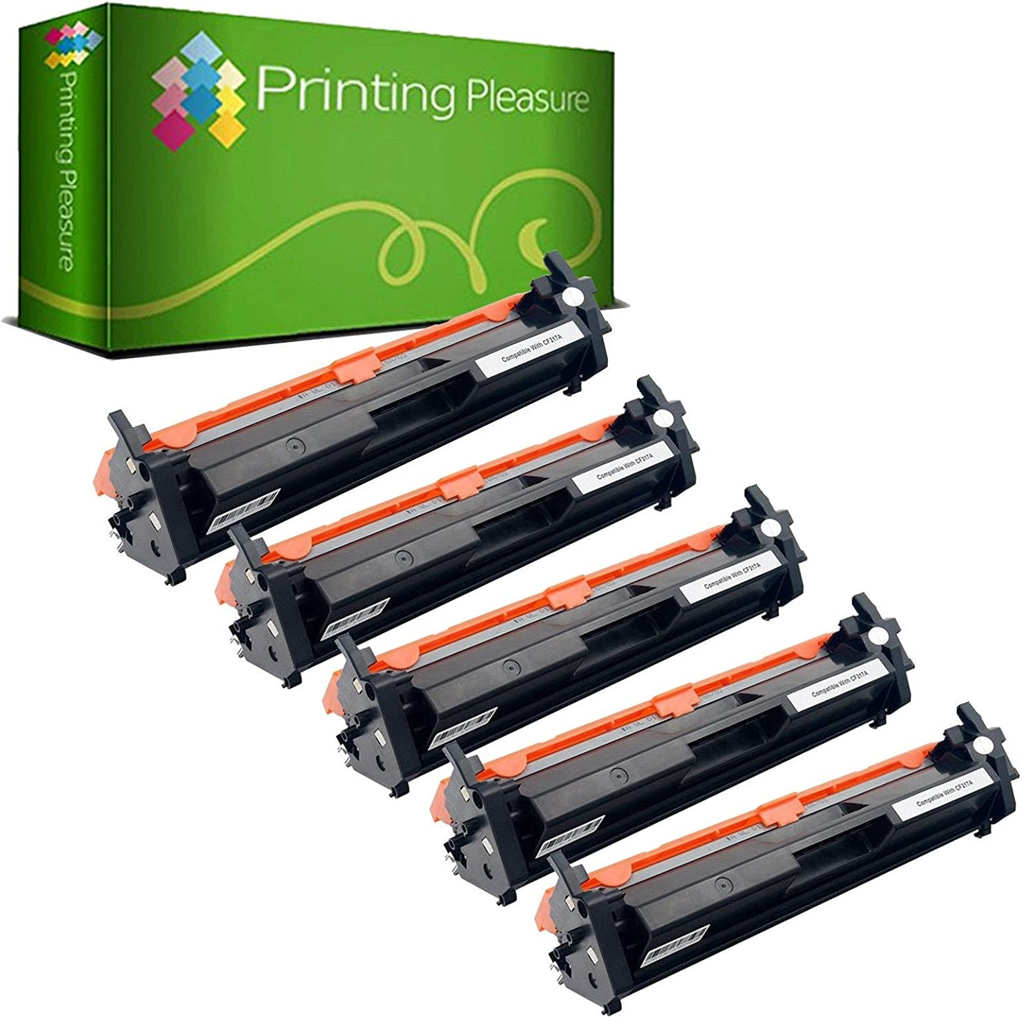 Printing Pleasure 5 Compatibles CF217A 17A [con Chip] Cartuchos de ...