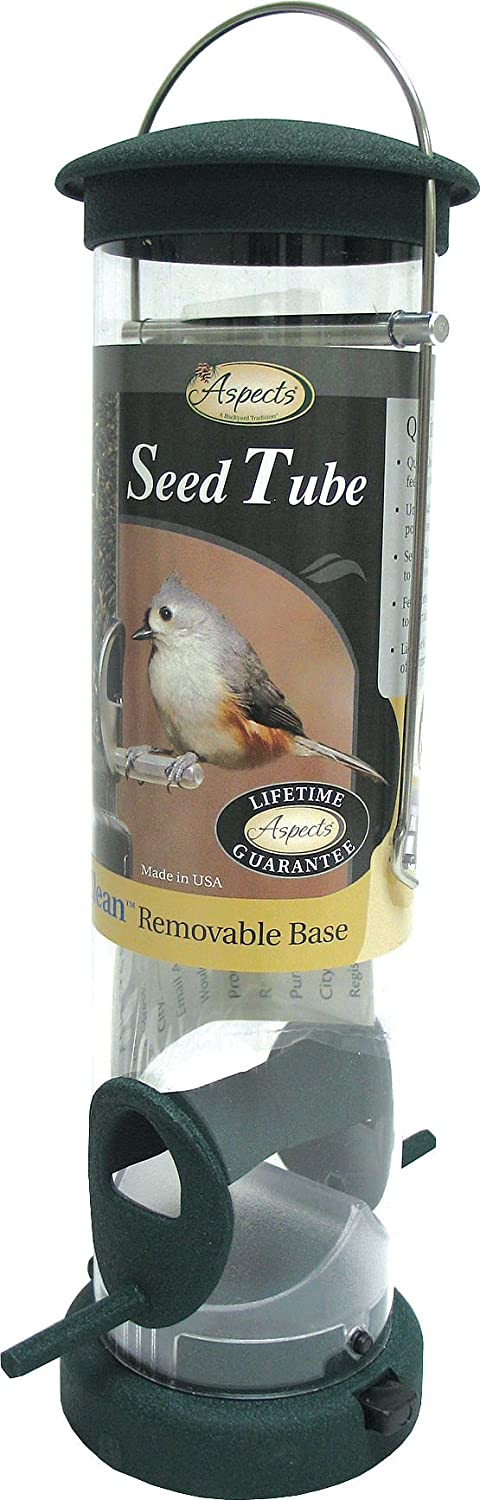 Aspects Quick Clean Spruce Seed Feeders Large Revolutionary Removable Base Easy Cleaning