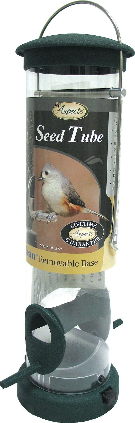 Aspects 425 Quick Clean Seed Tube Feeder, Spruce, Large