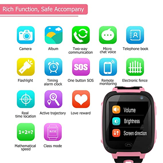 Amazon.com: Kids Smart Watch Phone for Boys Girls with GPS Tracker Cellphone SOS Anti-lost Camera Game Smart Watch Digital Wrist Watch Bracelet for Sport ...