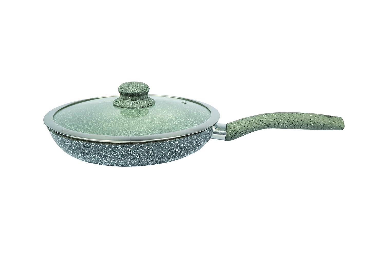 erika Set de Sartenes, Aluminio Forjado, Gris, 28 cm, 7 Unidades: Amazon.es: Hogar