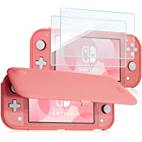 ProCase Nintendo Switch Lite Flip Cover with 2 Pack Tempered Glass Screen Protectors, Slim Protective Flip Case with…