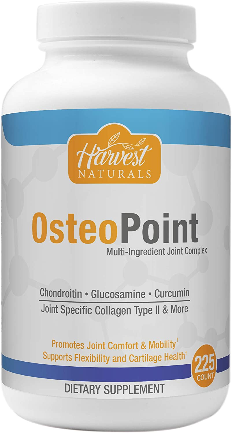 OsteoPoint Joint Health Complex Capsules with Palmitoylethanolamide - Joint & Pain Management Support - 225 Count - Harvest Naturals