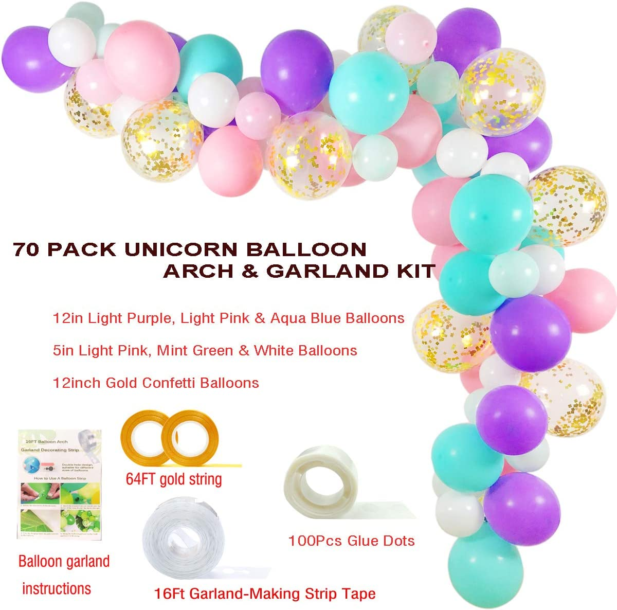 first birthday party decor giant balloons bat mitzvah mermaid decorations Jumbo Marble Unicorn Balloon latex 30 inch