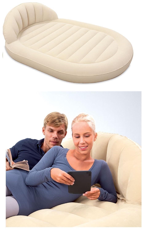 Bestway Comfort Quest Abgerundete Zirkular Royal Luftmatratze Matratze Bett mit Kopfstütze