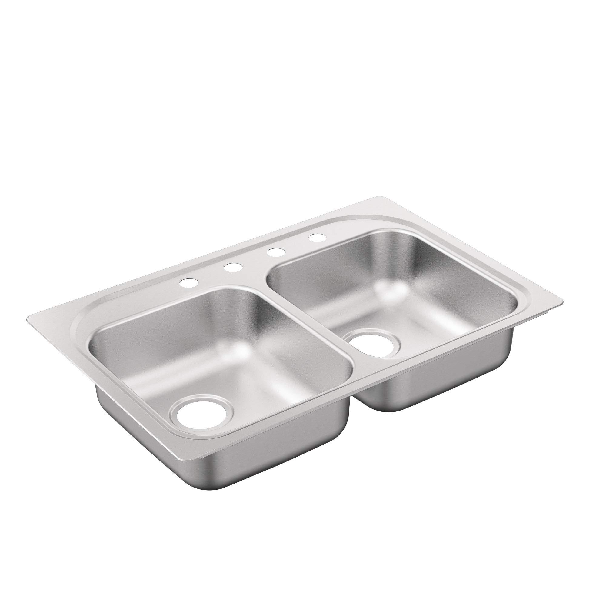 Moen G222164B 2200 Series Sink, Brushed/Satin Stainless by Moen