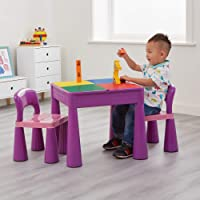 Monarch LH899V Kids Deluxe Table and Chair Set Table and Chair, Blue