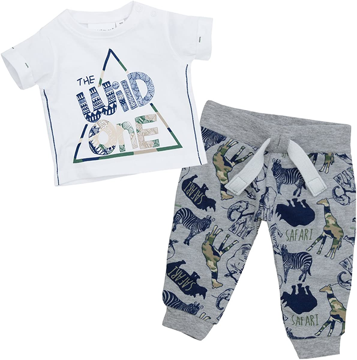 Babytown Baby Boys Safari Themed T Shirt Top /& Jog Pants Set