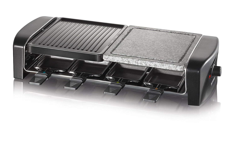 Severin RG 9640 Barbecue /à raclette avec pierre naturelle Noir
