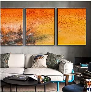 Amazon.com: henggfd 3 Pieces Modern Beautiful Orange ...