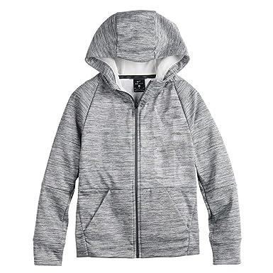be8a9ea9f Amazon.com: Nike Big Boys' Dri-Fit Therma Legacy Just Do It Zip ...
