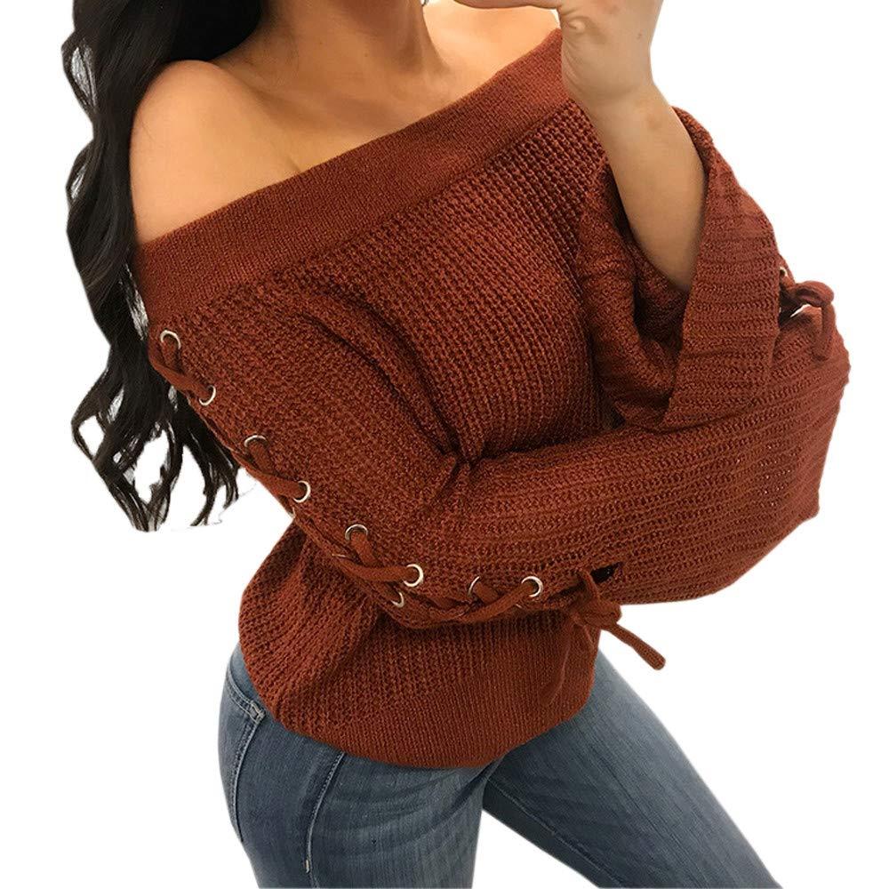 Elegante Camicetta Blouse Tops, Felpe tumblr ragazza, YanHoo Camicia lavorata a maglia da donna a maniche lunghe con maniche lunghe a manica lunga