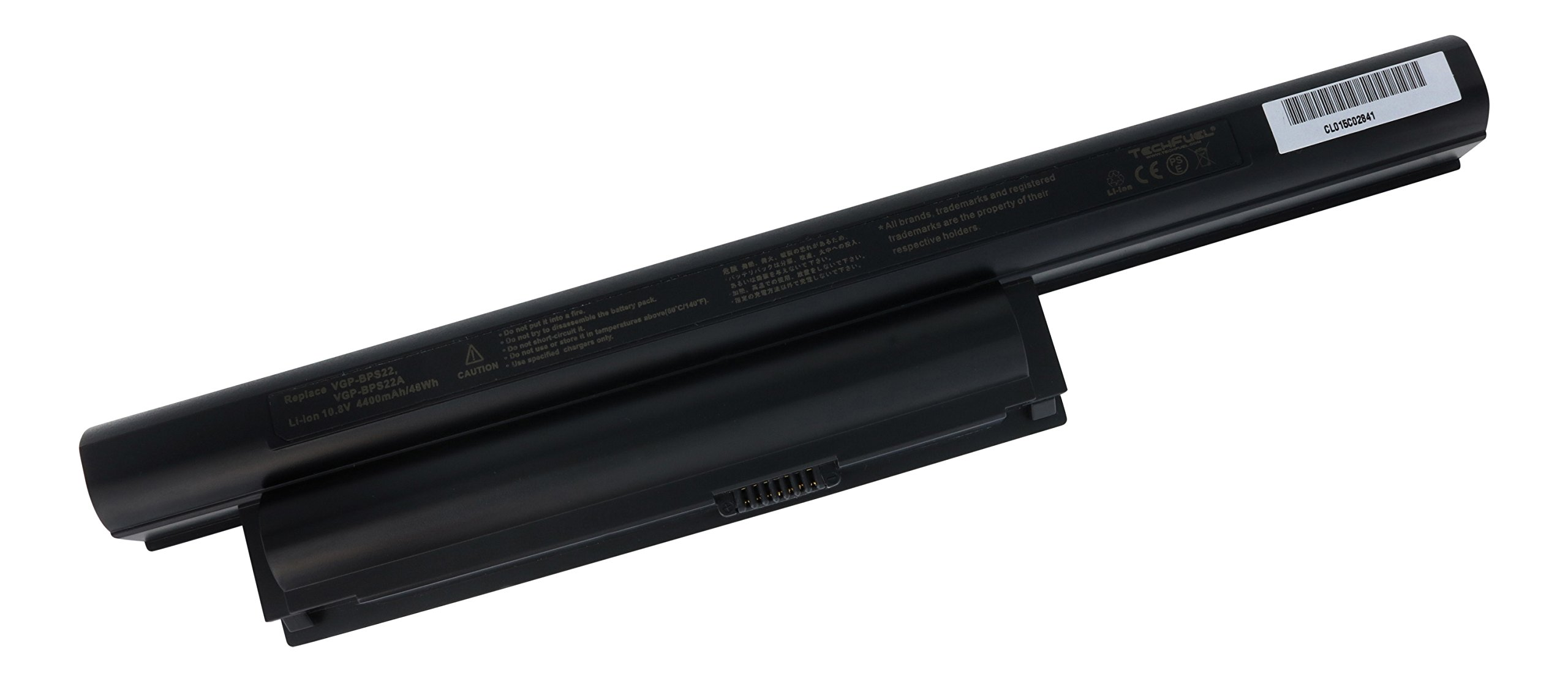 TechFuel VGP-BPS22 VGP-BPS22A Fully Compatible Replacement Battery for Sony PCG-61315L VPC-EA VPC-EB VPC-EC VPC-EE VPC-EF Series Laptops - Professional 6-cell, 48Wh 10.8V Li-ion Battery