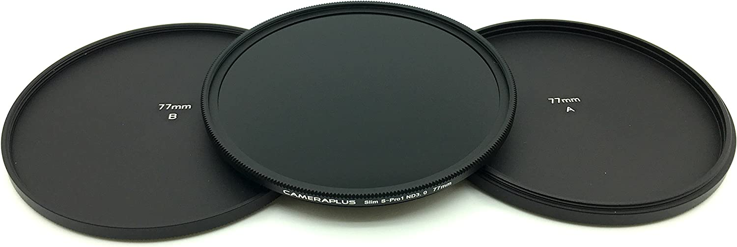 free aluminium filter protection caps. S-Pro1 Professional Neutral Density Filter ND 3.0 SLIM ND1000-77mm 10 Stops CameraPlus