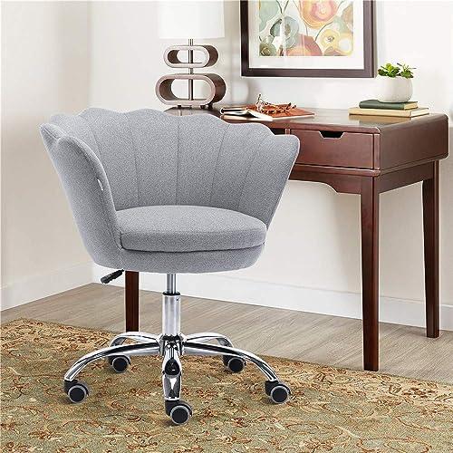 Henf Linen Office Chair Living Room Chair Modern Leisure Arm Chair