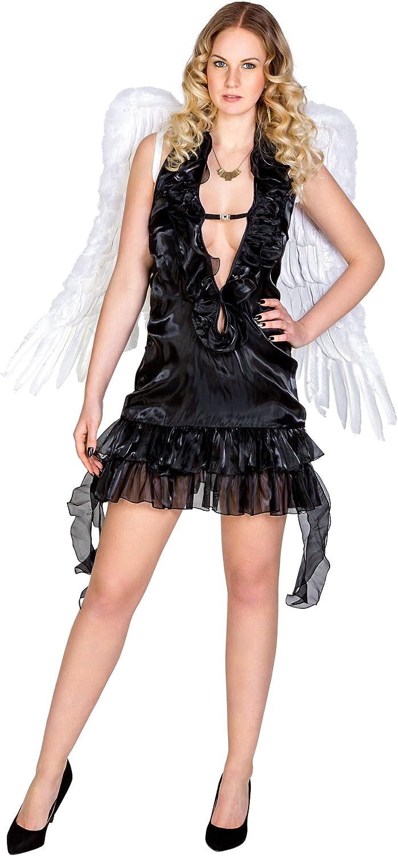 TecTake dressforfun Disfraz para Mujer de ángel | Negro (M | no ...