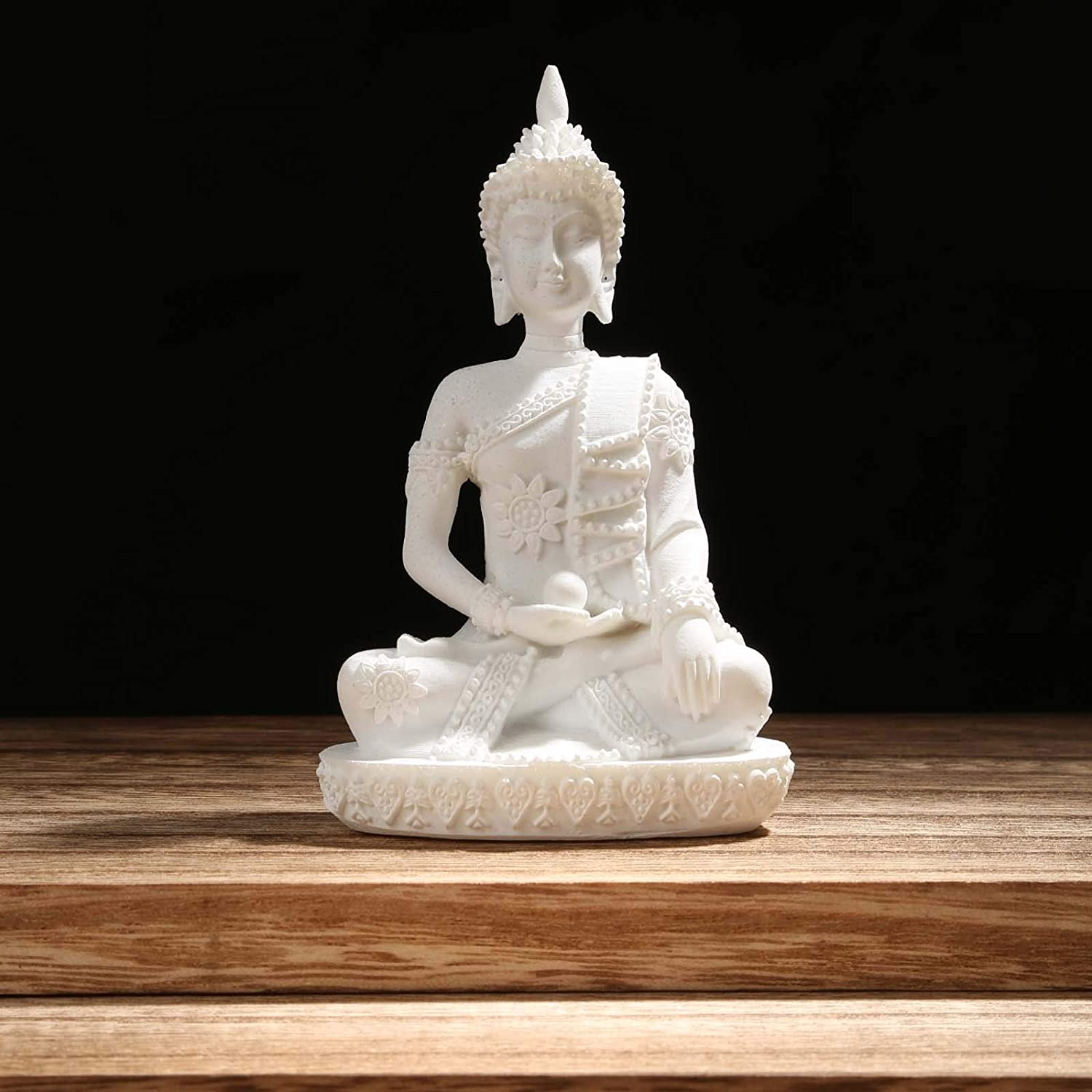 Carefree Fish Buddha Statue Minimalist Sandstone Decoration Zen Decor Bring Home a Ray of Sunshine 8Inch