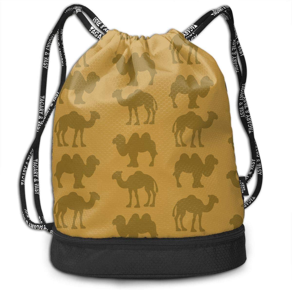HUOPR5Q Camping is in-Tents Drawstring Backpack Sport Gym Sack Shoulder Bulk Bag Dance Bag for School Travel
