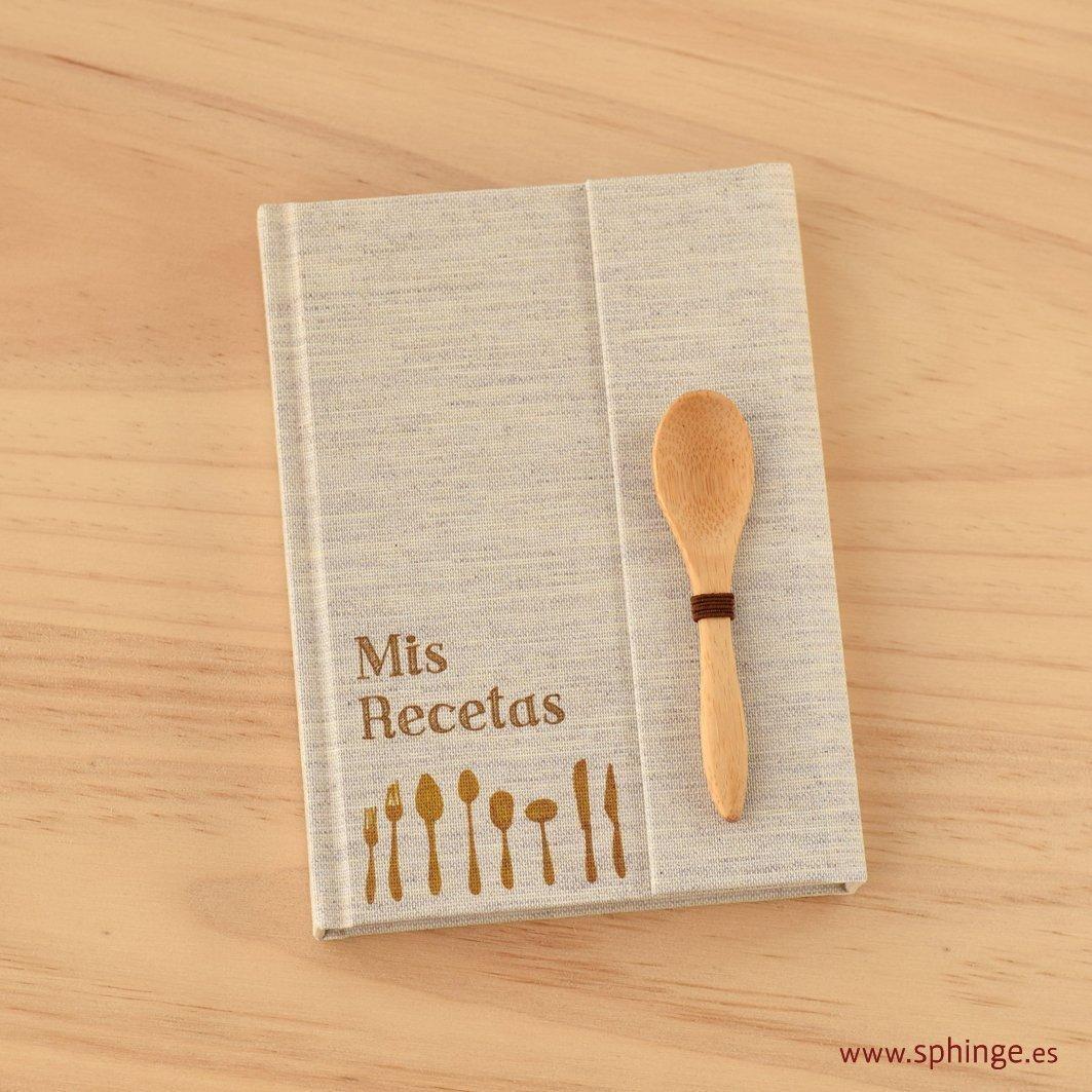 Recetario en blanco, recetario personalizable, formato A6, cuaderno artesanal para recetas