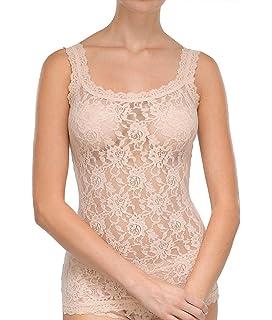 73af8c21b6b9d0 Hanky Panky Signature Lace Spitzen-Unterhemd Damen: Amazon.de ...