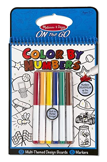 melissa doug color by numbers coloring book blue 2 packs 5378 - Melissa And Doug Coloring Book