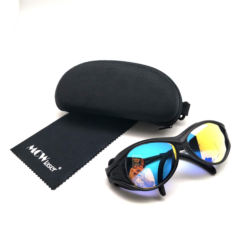 2x HQ profesional gafas de protección gafas para CO2Laser 10600nm negro OD5+