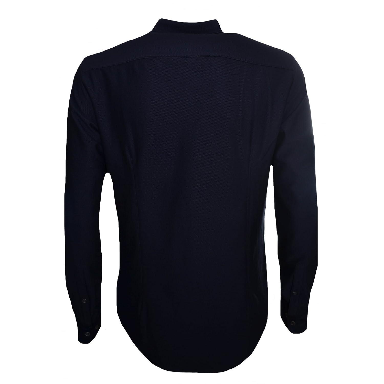 a298665399 Armani Jeans Men's Dark Navy Blue Long Sleeved Shirt XL: Amazon.co.uk:  Clothing