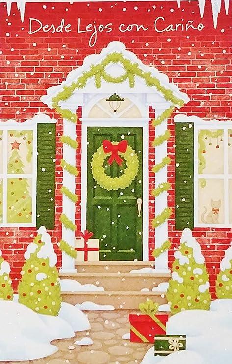 Feliz Navidad Cristmas.Amazon Com Desde Lejos Con Carino Feliz Navidad Merry